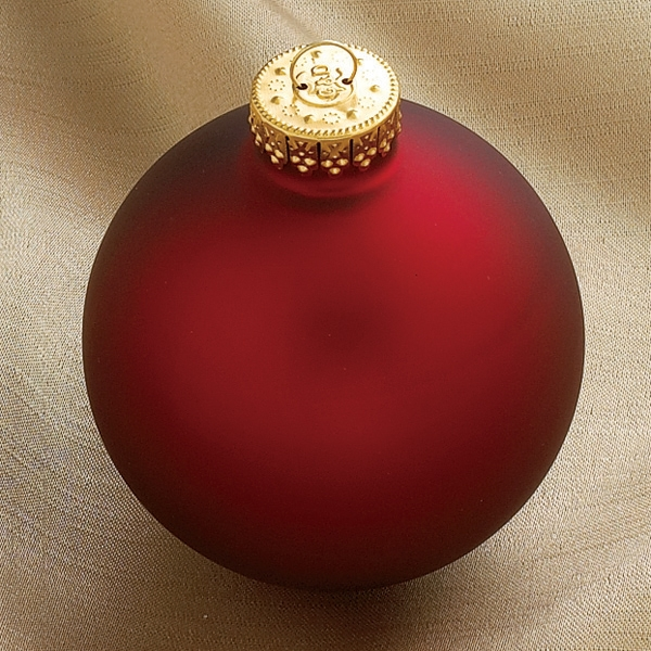 Rode Kerstbal Satijn 80 Mm Per Stuk Eb15063 80mt01
